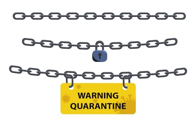 Wirus koronowy symbol blokady. pandemia wirusa korony powoduje zablokowanie krajów. zablokuj koncepcję epidemii wirusów.