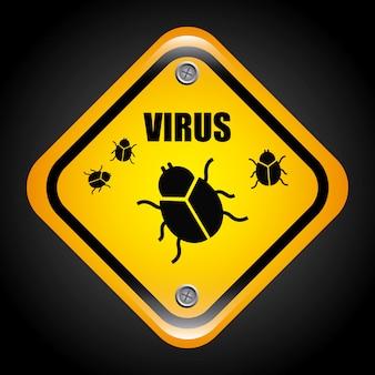 Wirus projekt graficzny ilustracja wektorowa