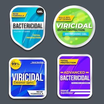 Wirusowe i bakteriobójcze etykiety czyszczące