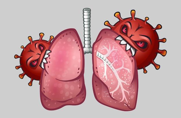Wirusy zjadają ludzkie płuca