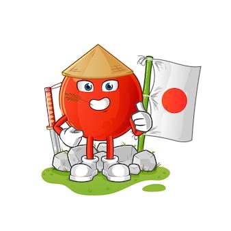 Wiśnia japońska. postać z kreskówki