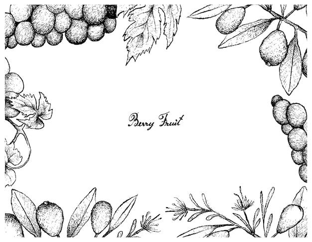 Wiśnie australijski plaży i winogron wina