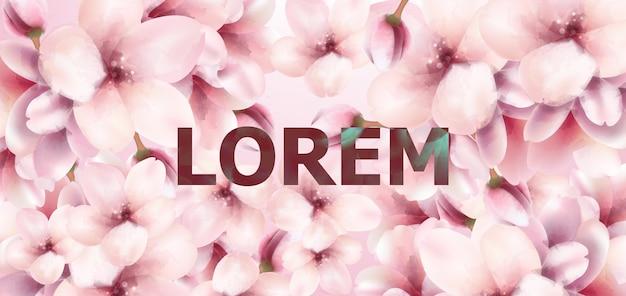 Wiśniowe kwiaty tło akwarela