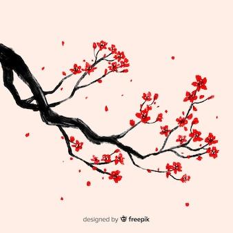 Wiśniowy kwiat tło