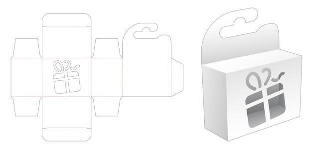 Wiszące mini pudełko z szablonem wycinanym szablonem