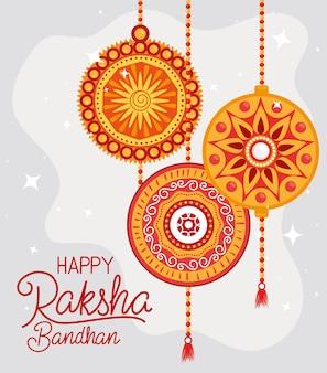 Wiszące opaski happy raksha bandhan