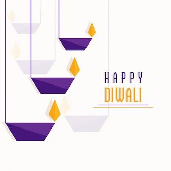 Wiszące papierowe lampy oillitowe, koncepcja happy diwali celebrations.