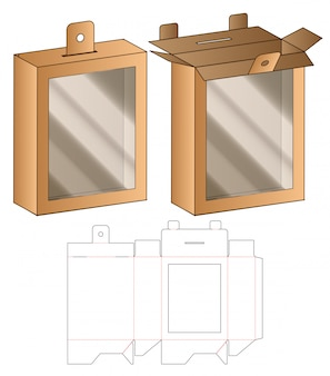 Wiszące pudełko do pakowania wycinane szablonem