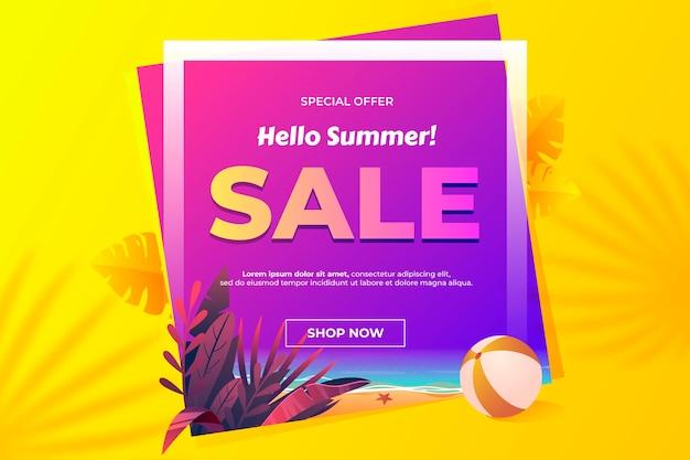 Witaj ilustracja gradientu letniej sprzedaży