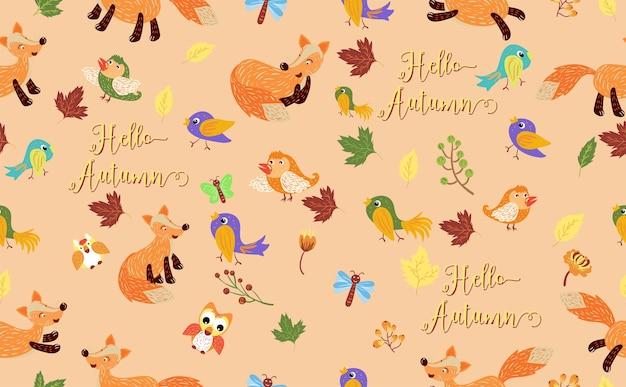 Witaj jesień wzór