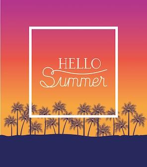 Witaj lato i wakacje konstrukcja ramy