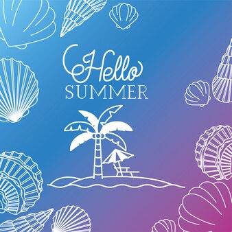 Witaj lato i wakacje projekt sylwetka