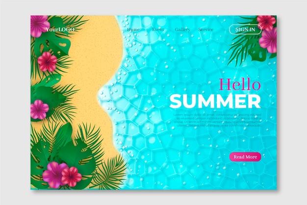 Witaj lato, koncepcja strony docelowej