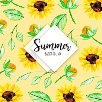 Witaj lato kreatywny projekt tła
