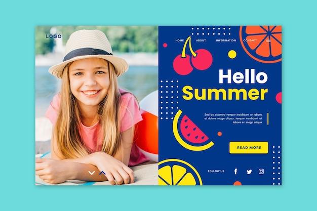 Witaj, lato, strona docelowa