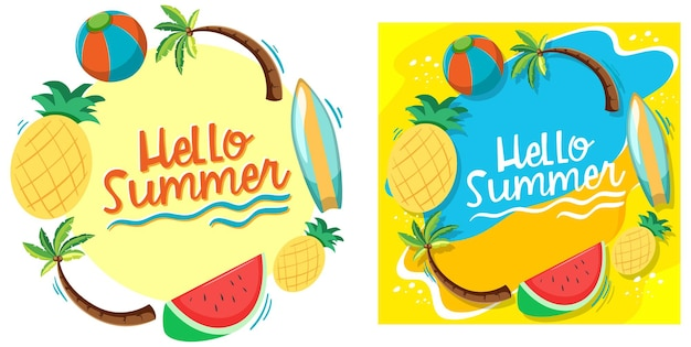 Witaj lato szablon banera
