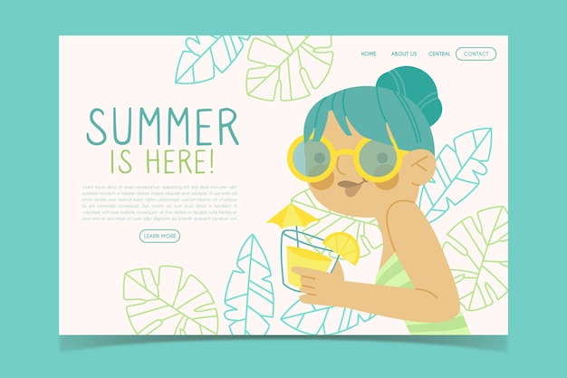 Witaj lato szablon sieci web