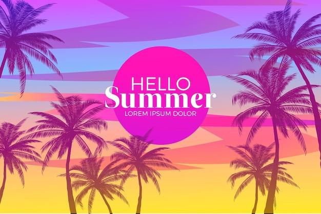 Witaj lato tle