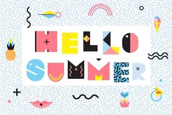 Witaj lato w stylu Memphis