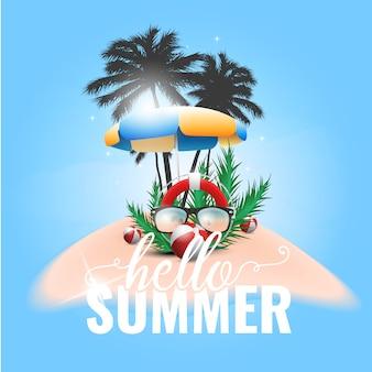Witaj lato w tle