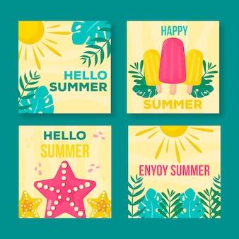 Witaj, letnia kolekcja postów instagram