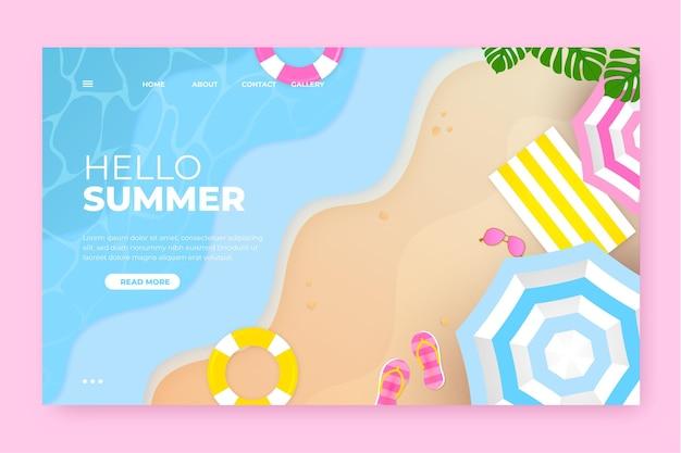 Witaj letnia strona docelowa