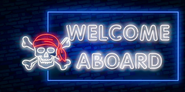 Witaj neon, szablon projektu, nowoczesny trend, szyld neonowy nocny, nocna reklama świetlna, baner świetlny, sztuka świetlna.