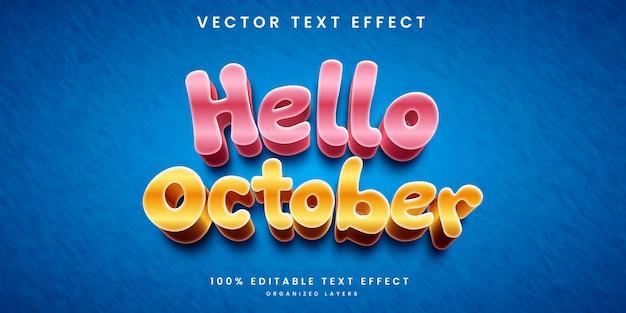 Witaj październikowy efekt tekstowy