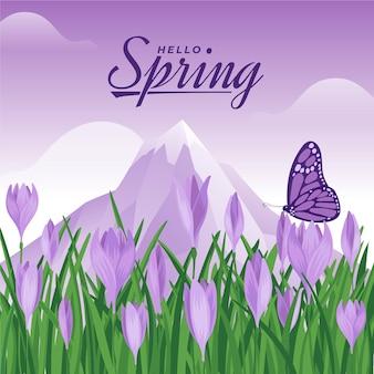 Witaj tło wiosna