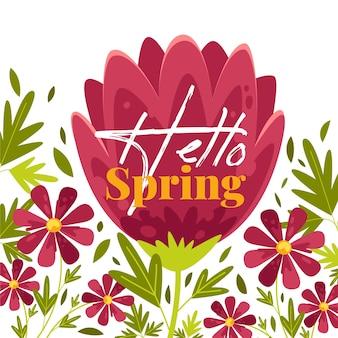 Witaj wiosenna tapeta kwiatowy