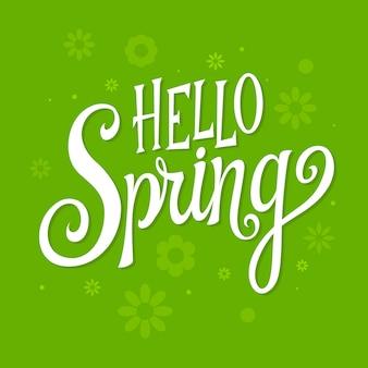 Witaj wiosenny napis