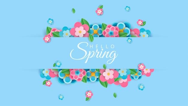 Witaj wiosenny styl papieru