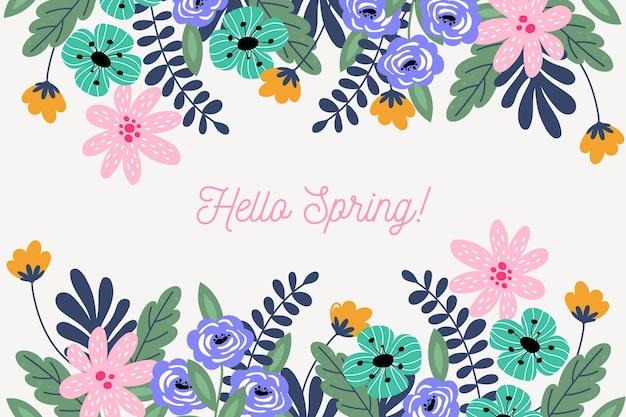 Witaj wiosna w płaskiej konstrukcji