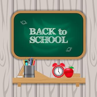Witaj wracaj do szkoły z tablicą