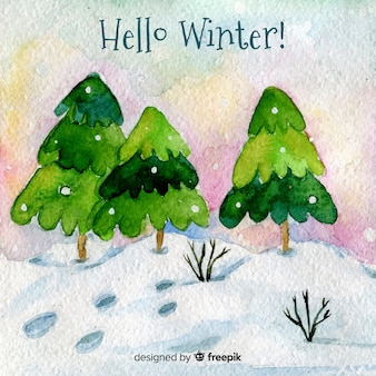 Witaj zimowym tle