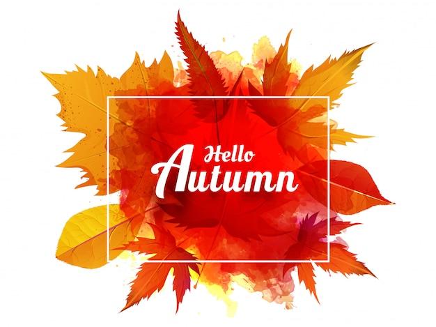 Witam jesień w tle