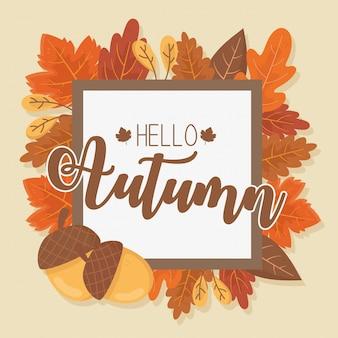 Witam jesienna ramka