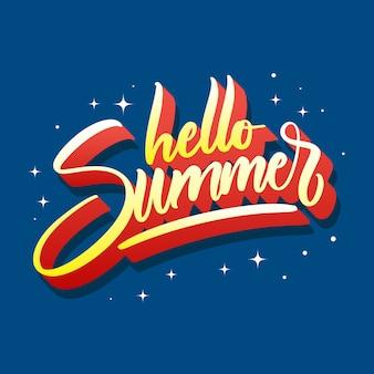 Witam lato napis projekt