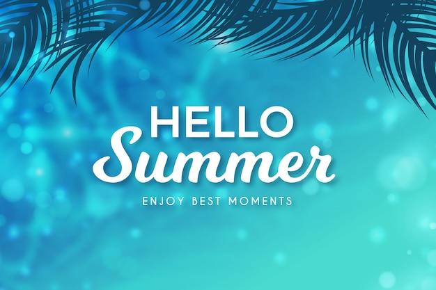 Witam lato niewyraźne pojęcie