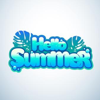 Witam lato odręcznie napis.
