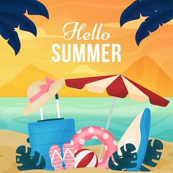 Witam lato płaska