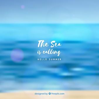 Witam lato tło z morza niewyraźne