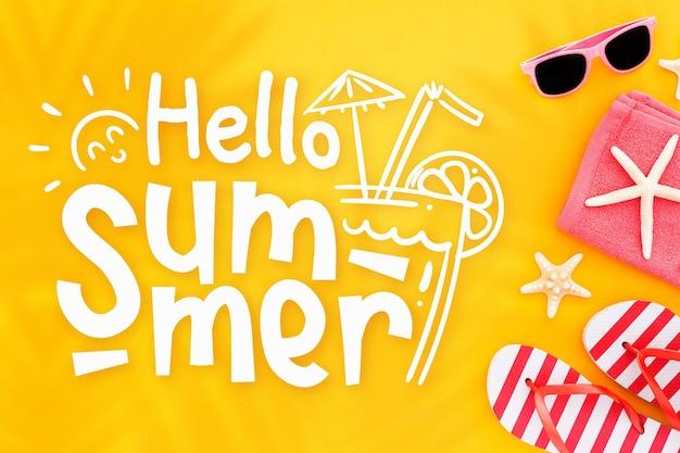 Witam letni napis ze zdjęciem