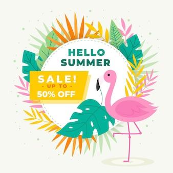 Witam letnia koncepcja sprzedaży