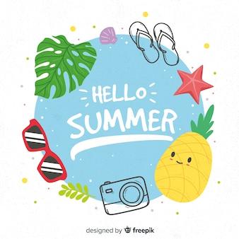 Witam letnie tło