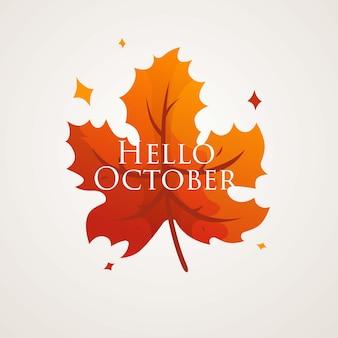 Witam października szablon tła
