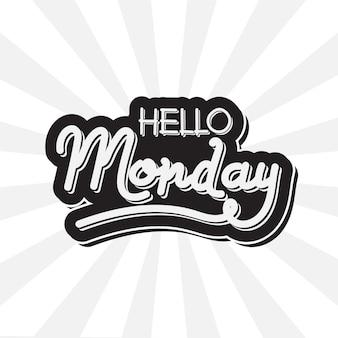 Witam poniedziałek - napis