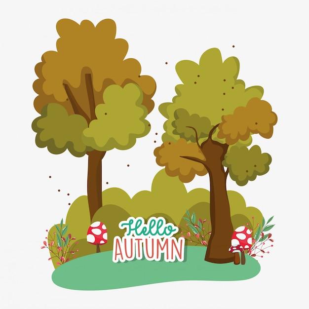 Witam sezon jesienny płaski
