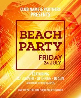 Witam summer beach party flyer