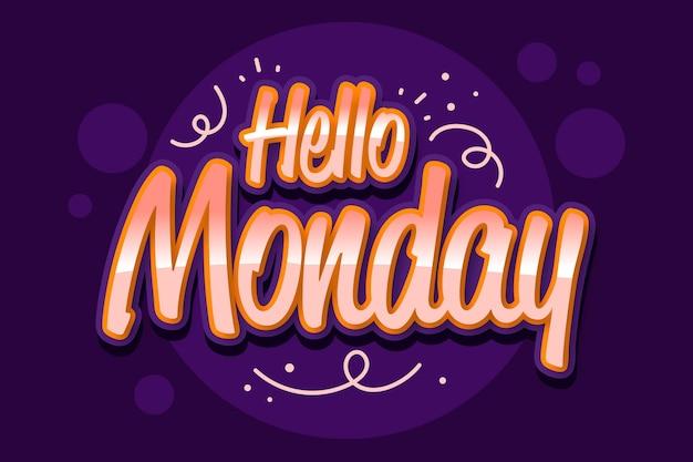 Witam w poniedziałek w tle